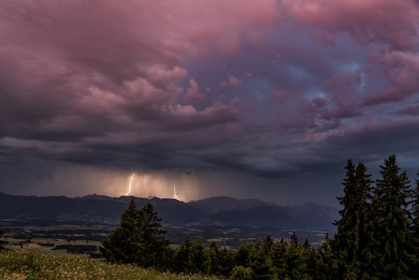 Blitze am Auerberg/Lightning at Auerberg