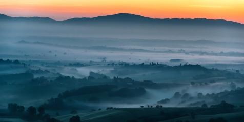 Morgens in der Toskana